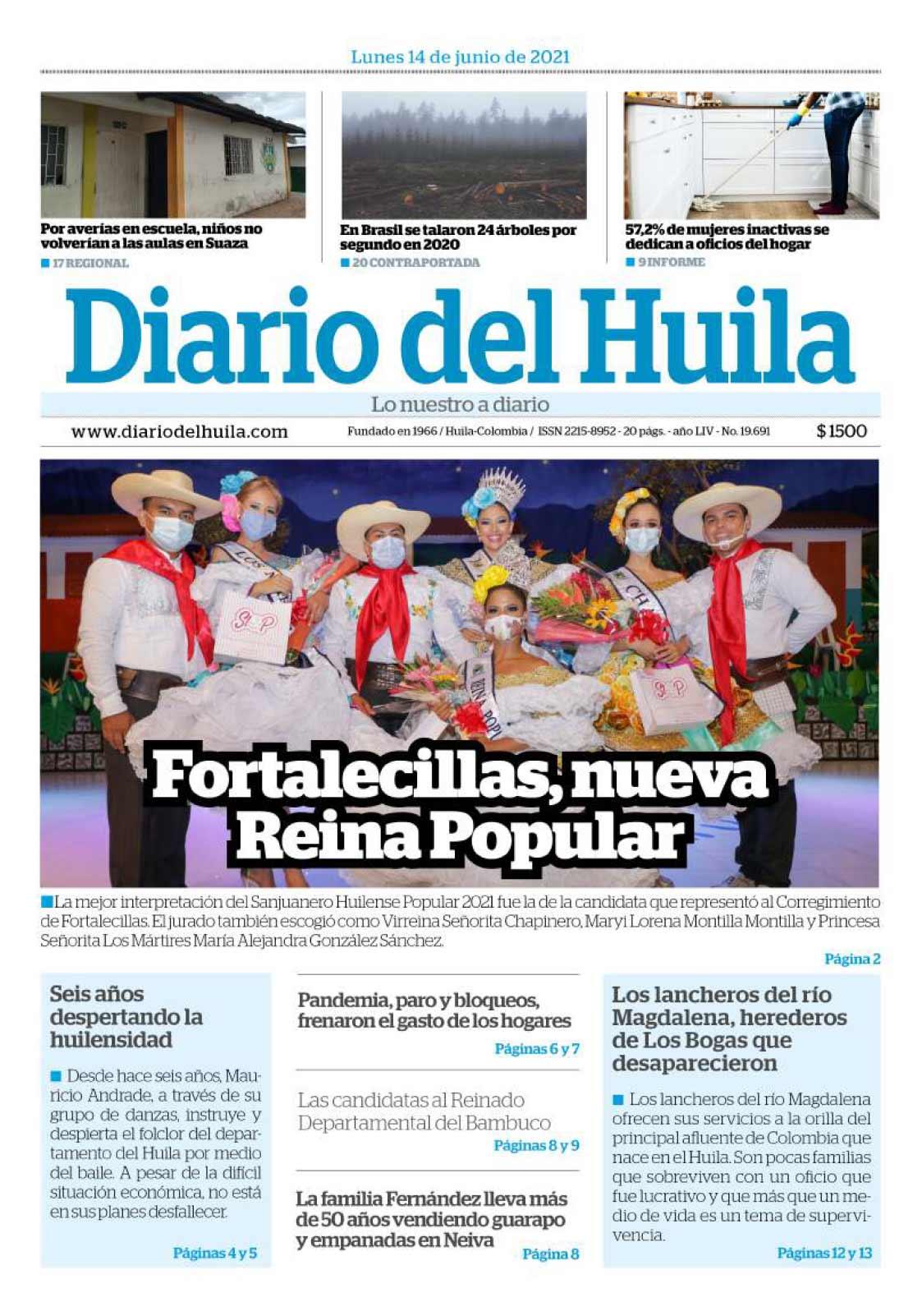 Diario del Huila 14 de junio de 2021