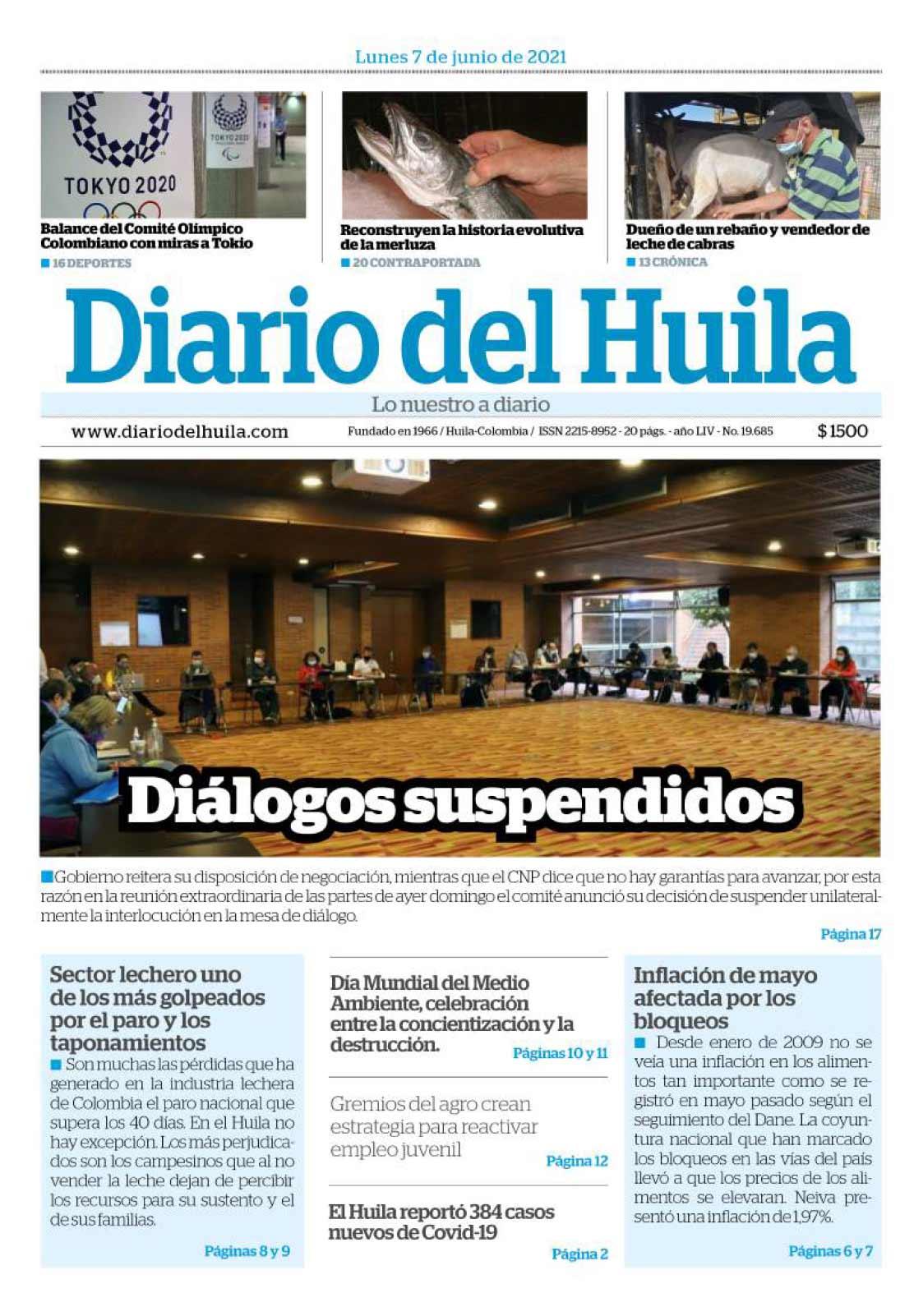 Diario del Huila 7 de junio de 2021