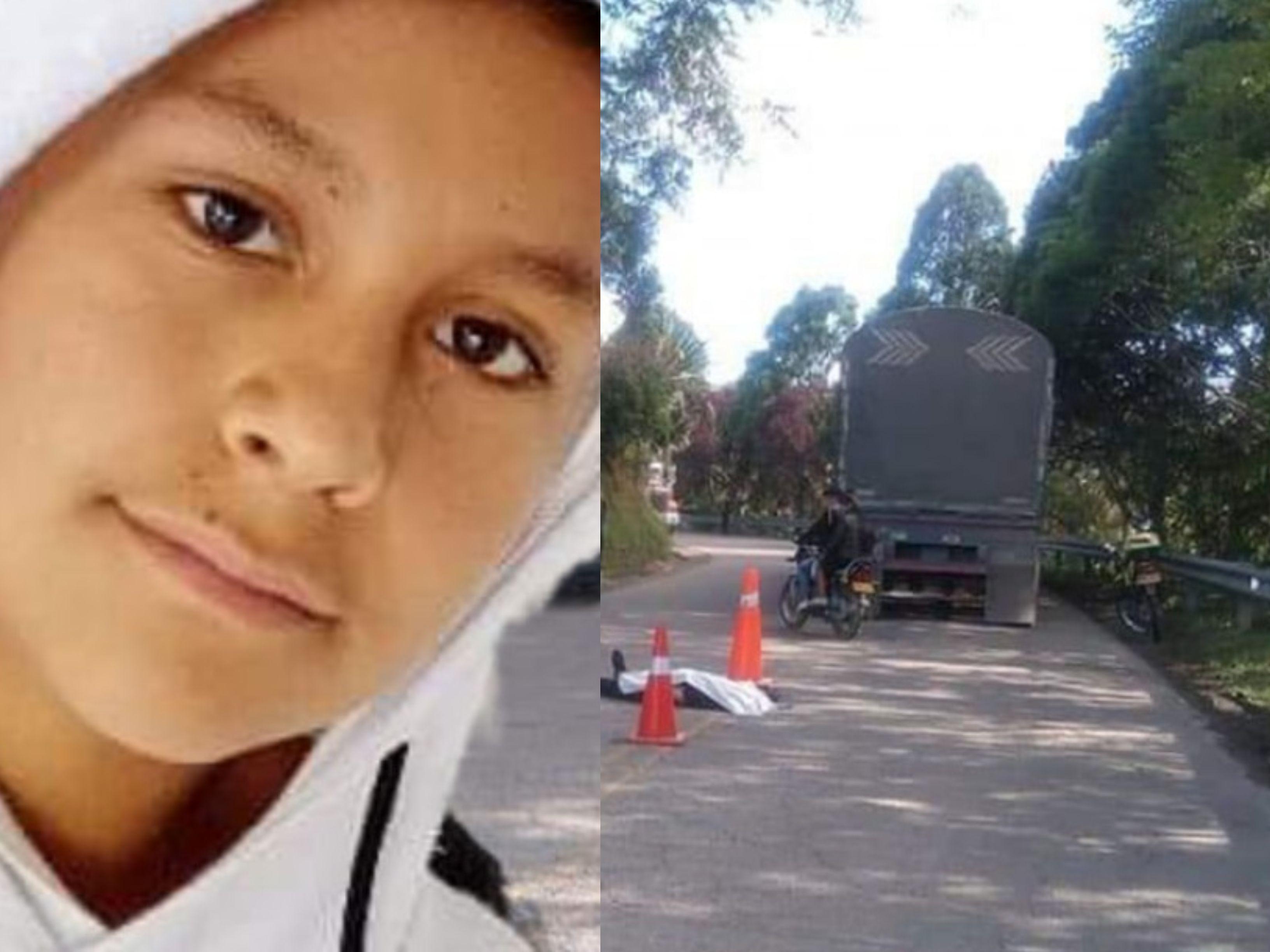 Menor de edad murió luego de chocar contra un camión