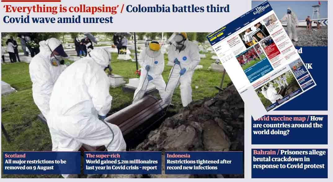 Colombia colapsada por covid-19: The Guardian