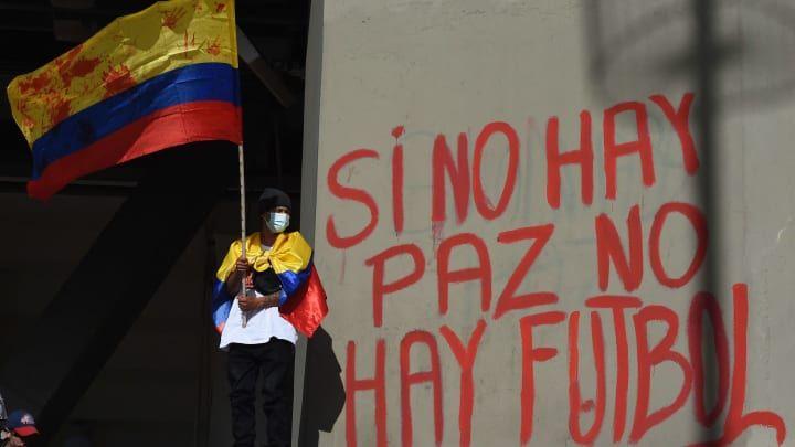 Con plantón, manifestantes se opondrán al partido ente Junior y Millonarios