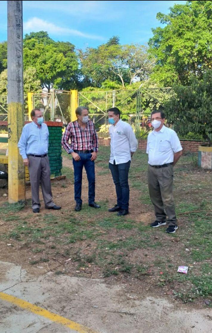 Celebran remodelación del polideportivo del Barrio La Orquídea
