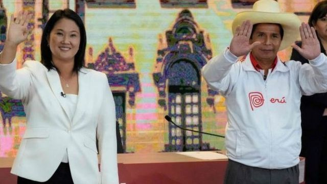 Castillo, de izquierda, virtual Presidente del Perú