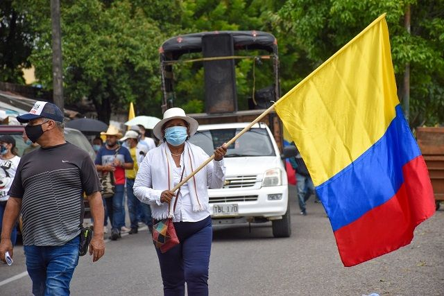 Con baja afluencia, manifestantes exigieron al Gobierno voluntad de diálogo