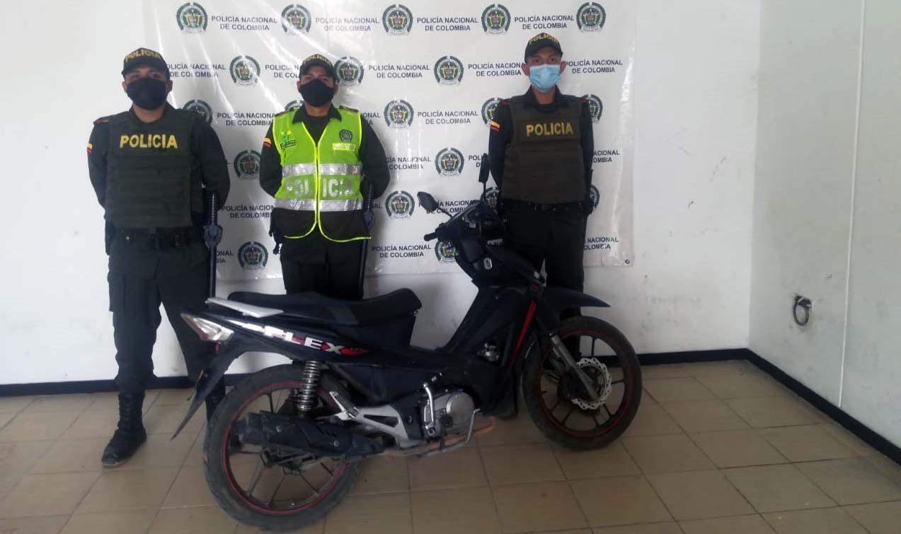 Recuperada en Rivera moto robada