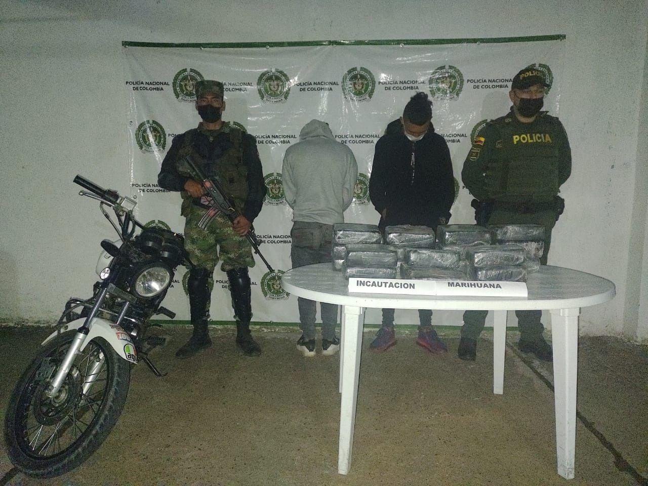 Detenidos con 20 kilos de marihuana que pretendían comercializar en Neiva