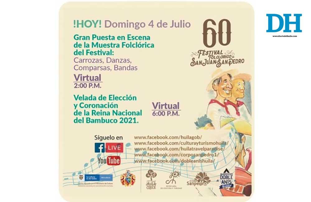 Muestra folclórica del festival