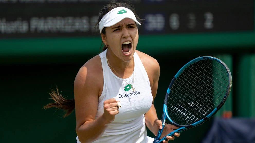 Terminó la historia de Camila Osorio en el Wimbledon