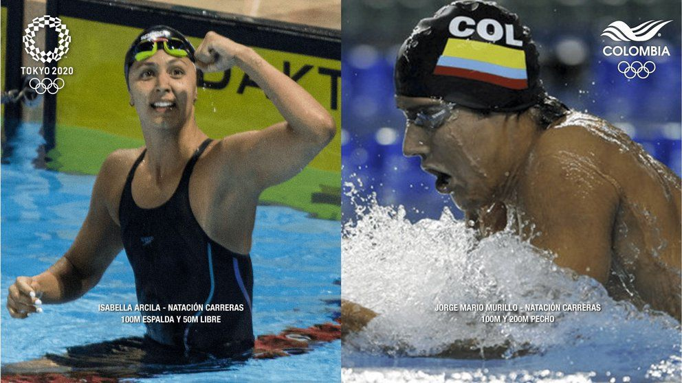 Isabella Arcila y Jorge Murillo lograron cupo en natación para los Juegos Olímpicos