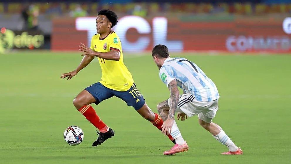 Cuadrado alcanzó importante récord jugando con la Selección Colombia