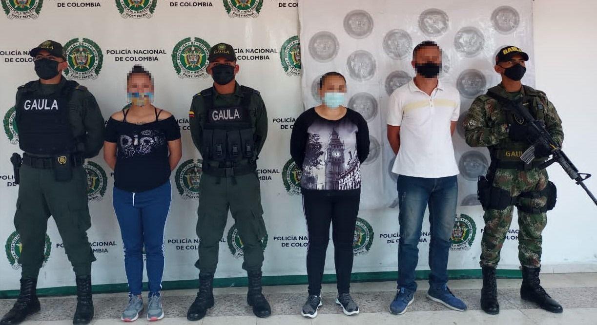 Cuatro miembros de la banda de extorsionistas 'Los del Sur' fueron capturados