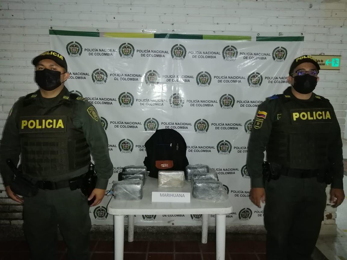 La policía de Neiva halló cerca de 7000 gramos de marihuana