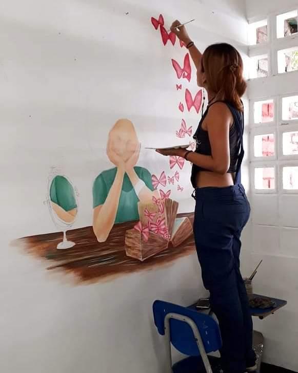 Paula se ve a futuro con una casa de cultura en Neiva