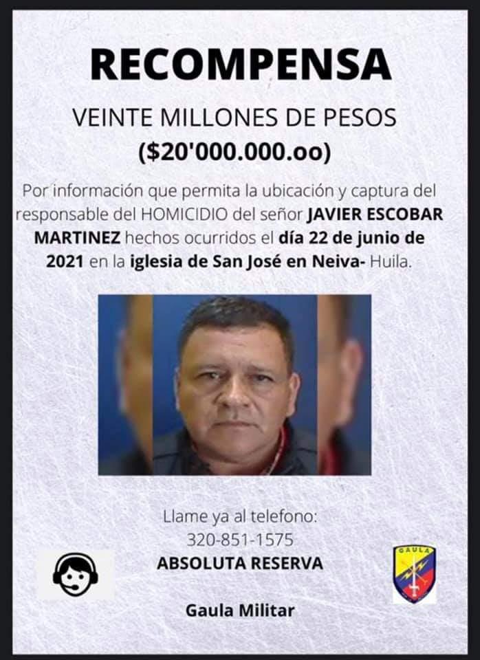 Recompensa de $20 millones por información sobre homicida del ex coronel Escobar Martínez