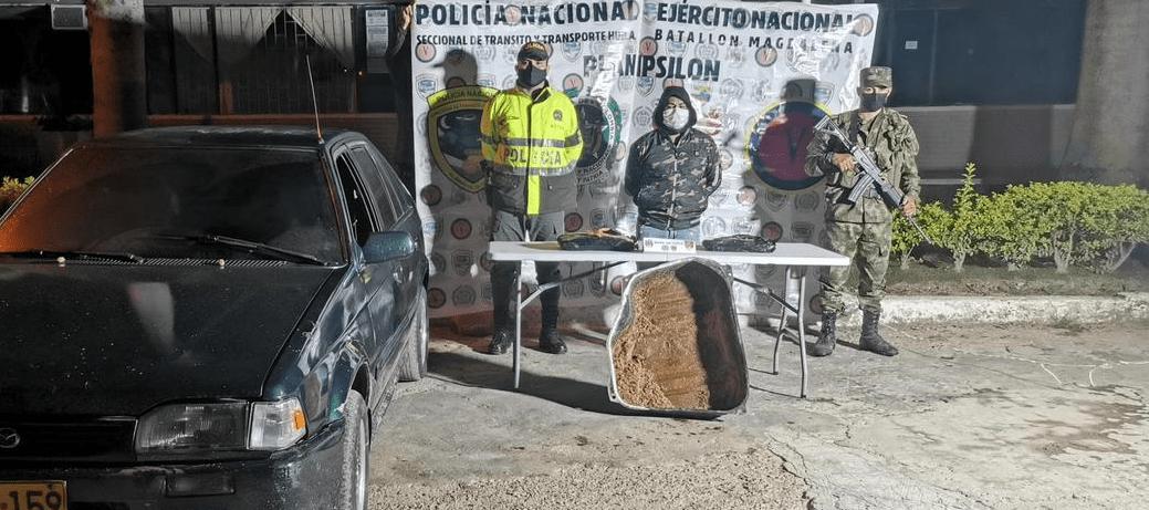 Capturado transportando bajo modalidad caleta 5 kilos de base de coca