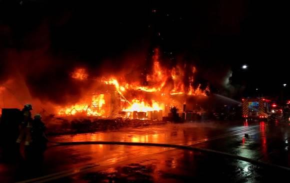 Incendio en Taiwán dejó 46 personas muertas