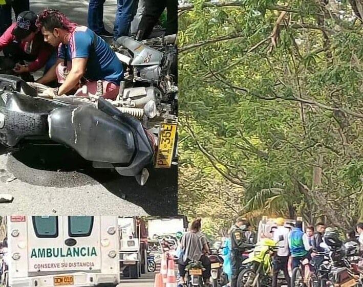 Niña de 3 años murió tras sufrir un accidente de transito vía Campoalegre-Neiva
