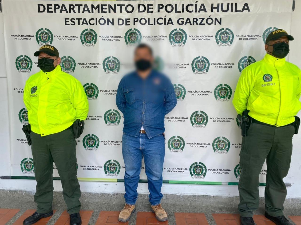 Por presunto abuso sexual fue detenido un hombre en Garzón