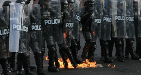 Más de 100 heridos y 48 capturados tras disturbios en varias ciudades de Colombia el 20 de Julio