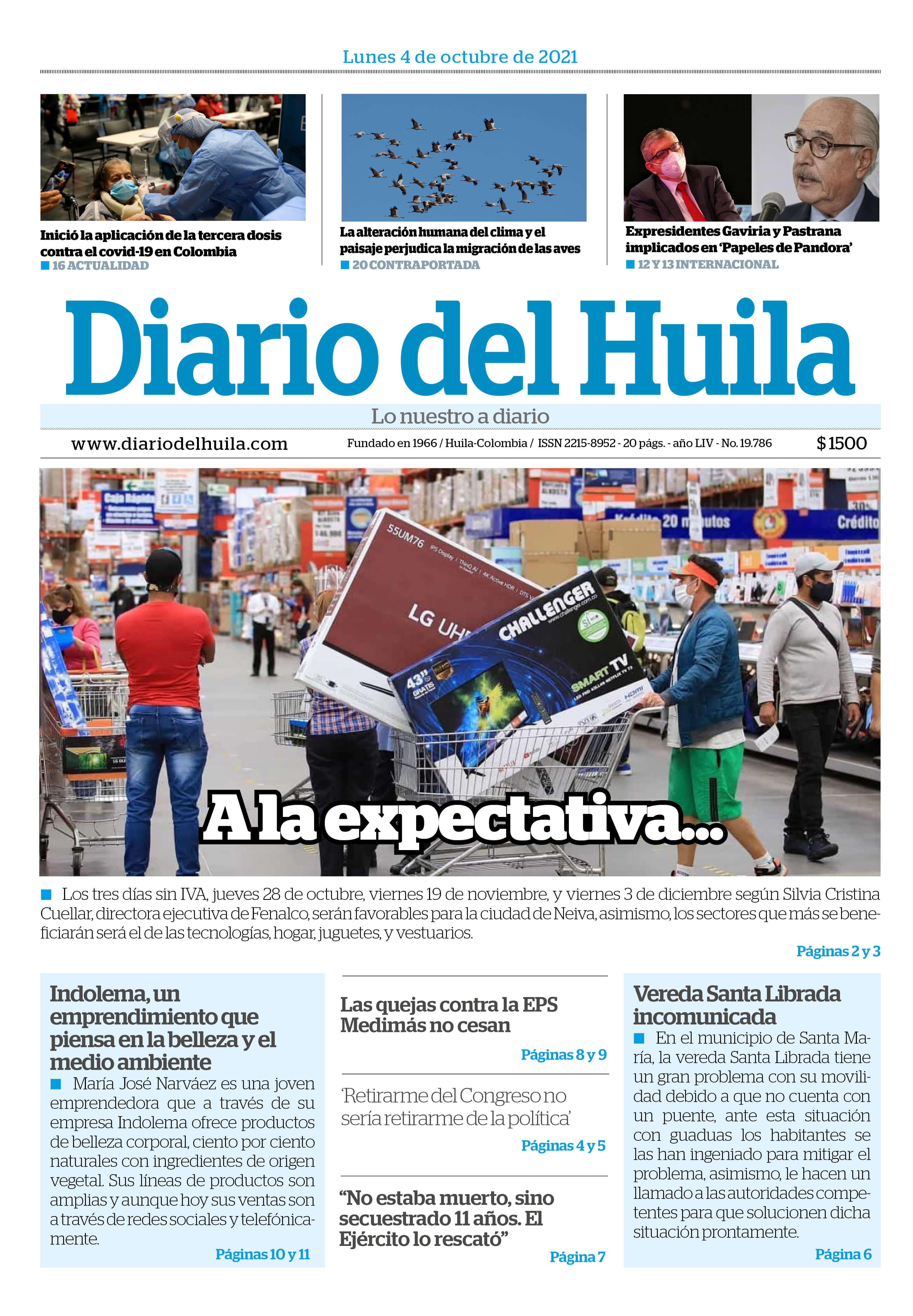 Diario del Huila 04 de octubre de 2021
