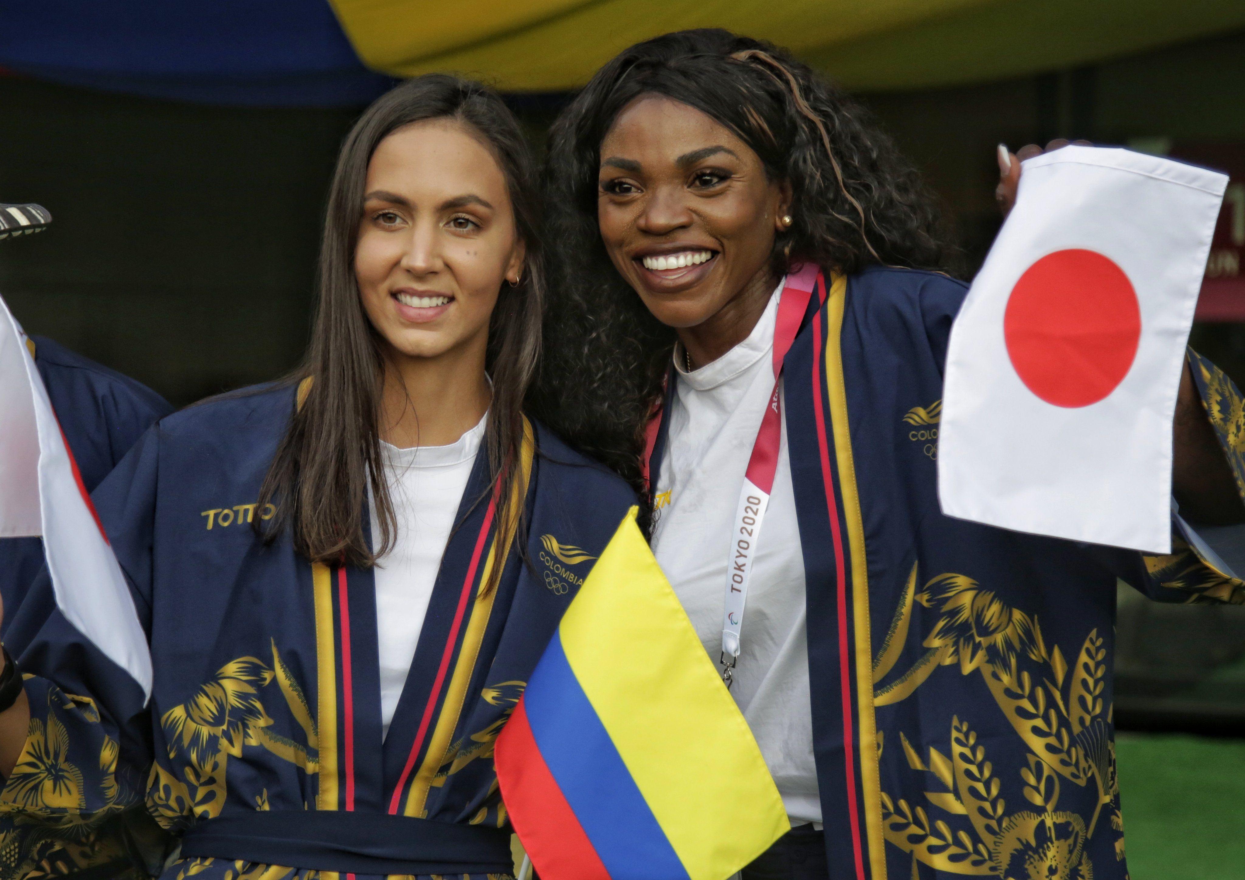 Los colombianos vistieron de Kimono y sombrero vueltiao, en la inauguración de los JJOO de Tokio