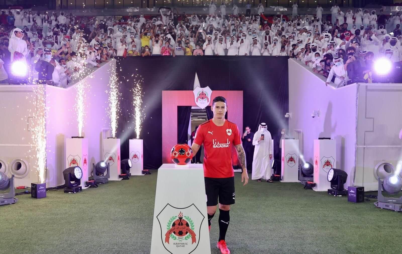 James está listo para debutar con Al-Rayyan