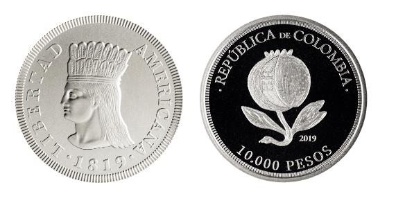 La nueva moneda de 10 mil pesos