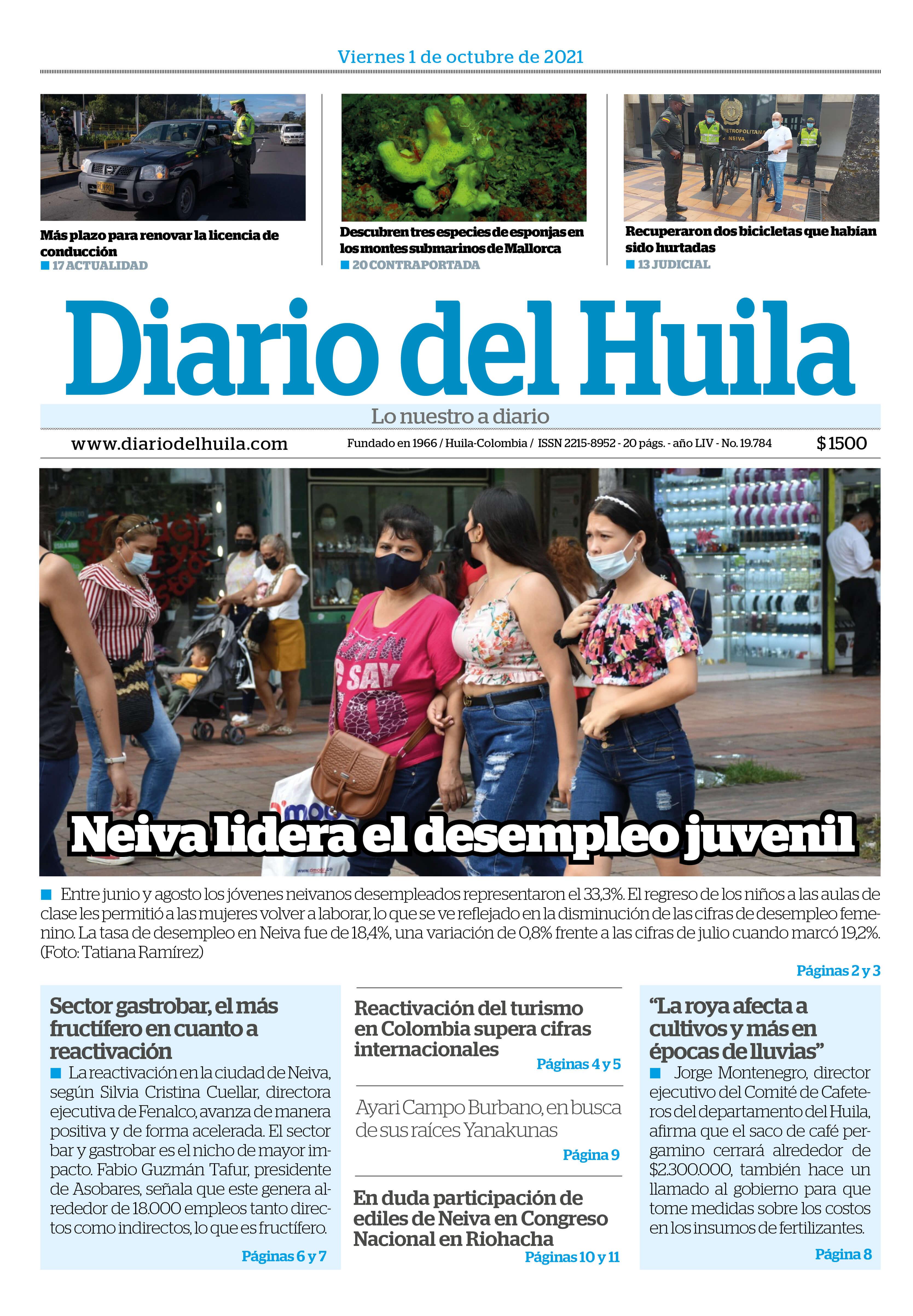 DIARIO DEL HUILA 01 DE OCTUBRE DE 2021