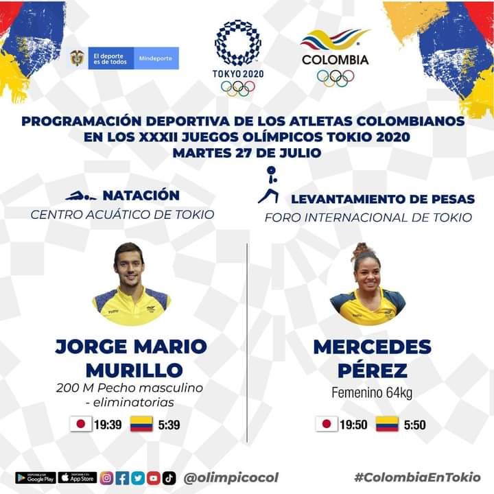 Prográmese con los deportistas colombianos en los JJOO