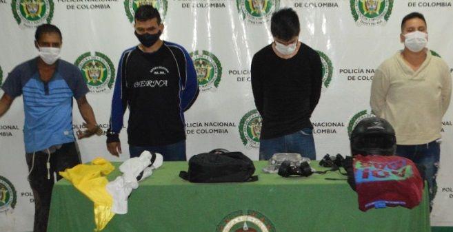 Capturados durante los enfrentamientos entre el Esmad y encapuchados
