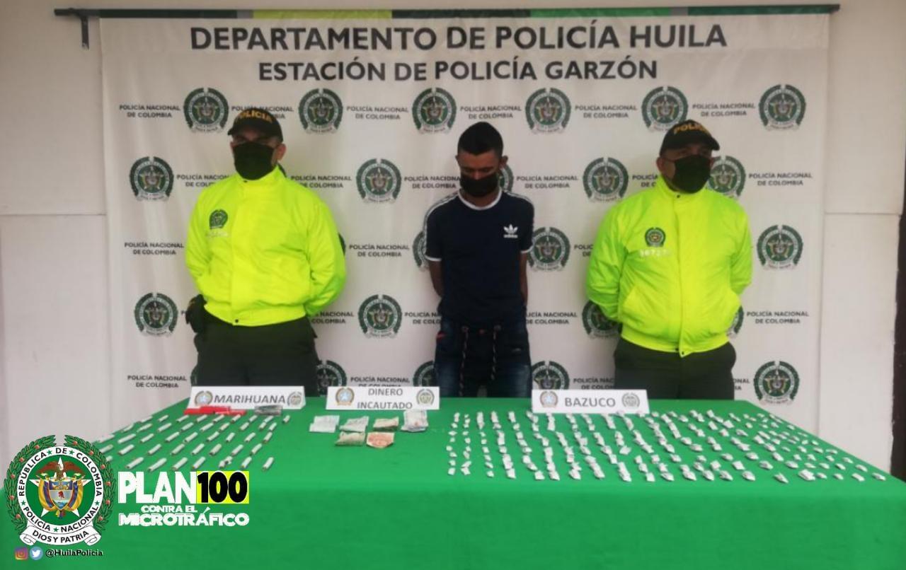 Cayó jibaro y presunto atracador de motos en Garzón