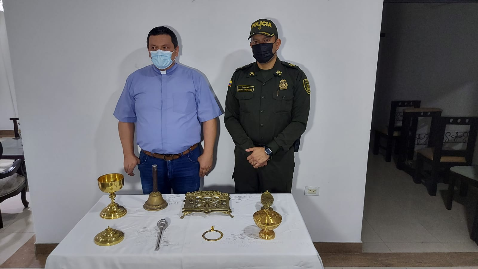 Recuperaron elementos que habían sido hurtados en un templo del barrio Quebraditas