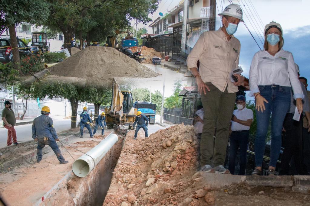 Obras de optimización de acueducto y alcantarillado han generado 1.300 empleos en Neiva