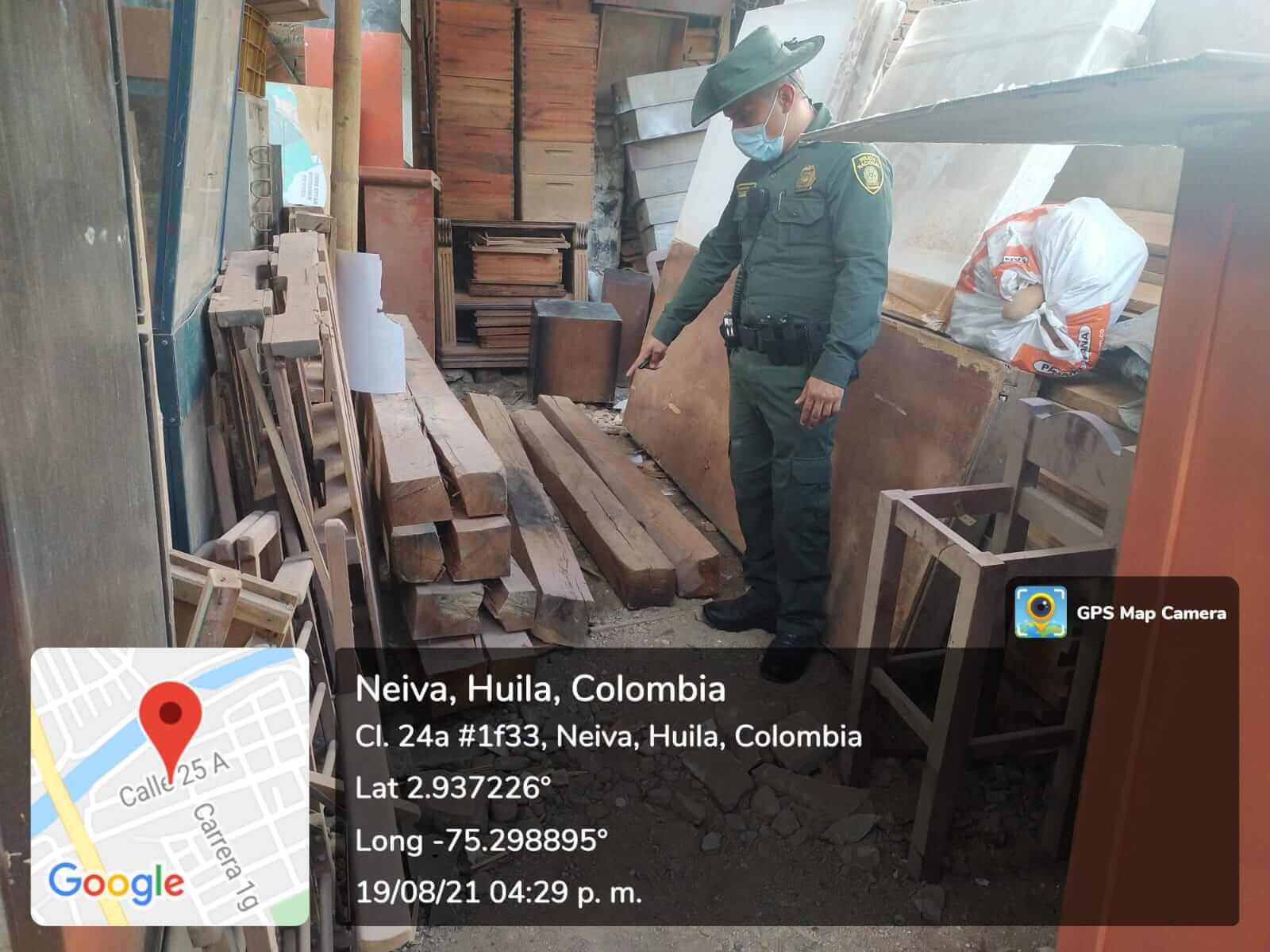 Incautaron madera ilegal en el barrio la Cordialidad de Neiva