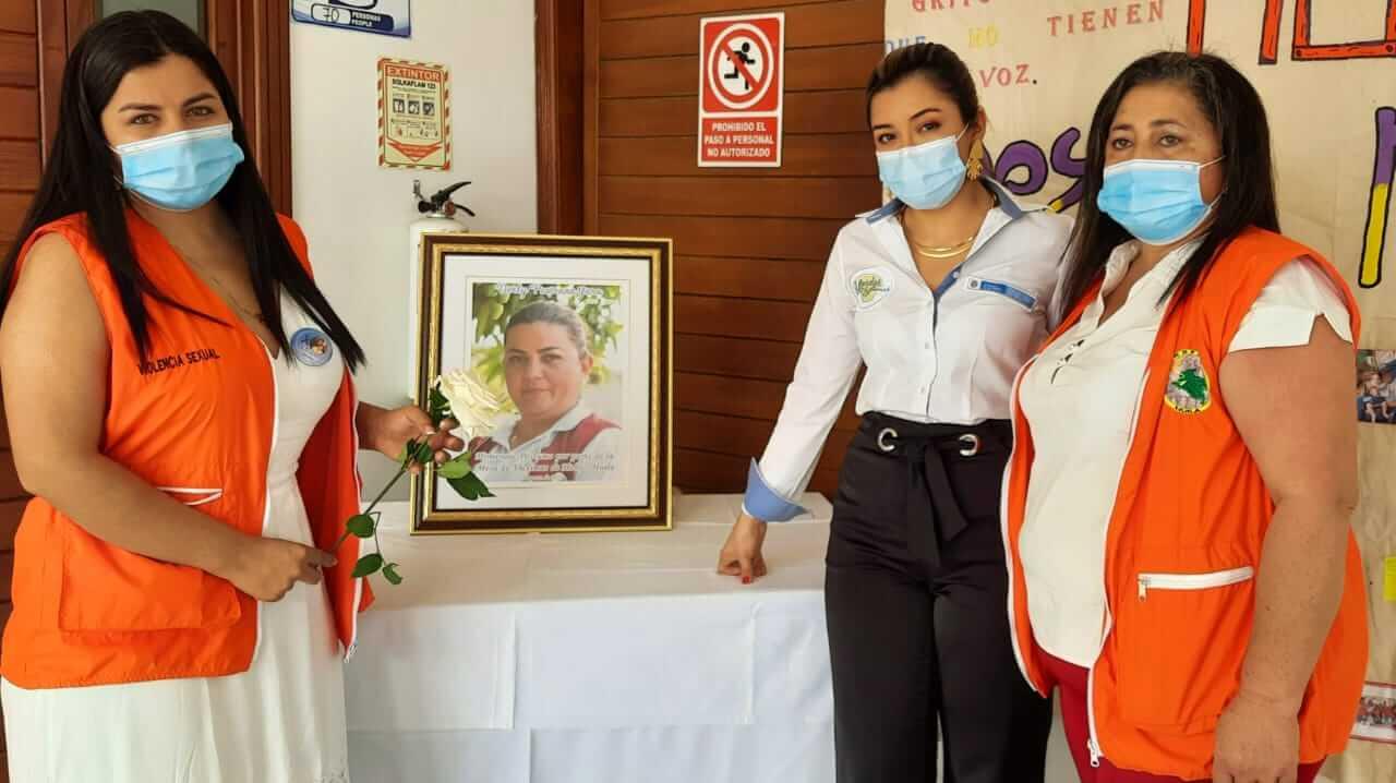 Homenaje a la lideresa asesinada Derly Pastrana