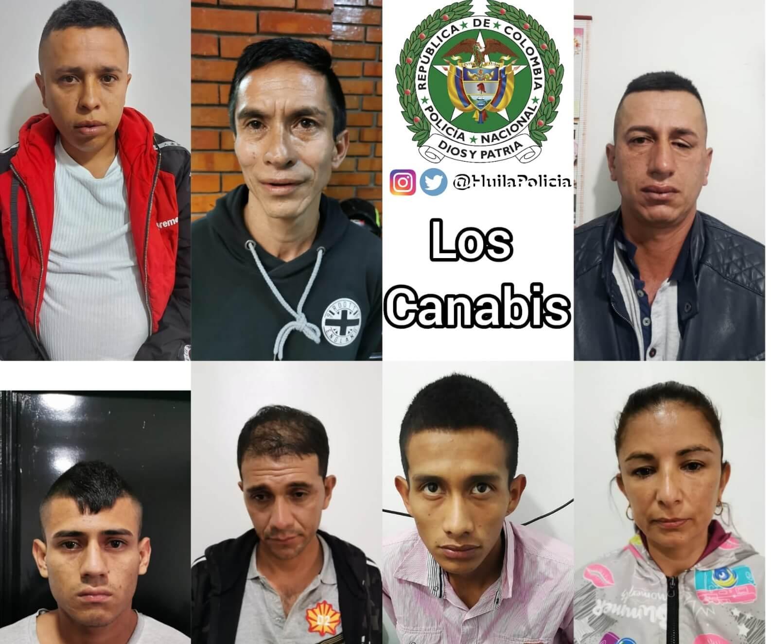 Cayó el grupo delincuencial 'Los Canabis' en Pitalito