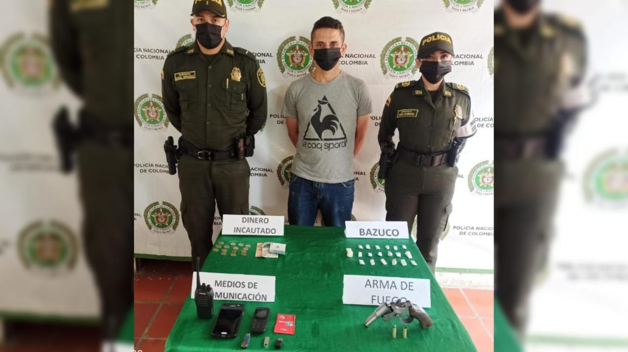 Este hombre se encontraba armado en San Agustín, Huila