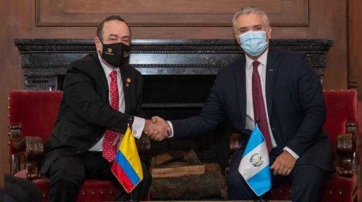 Duque se reunió con el presidente de Guatemala