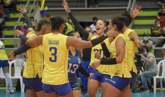 Colombia venció a Brasil en Voleibol