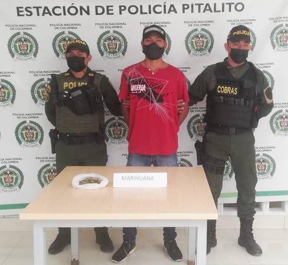 Un hombre fue capturado con marihuana en Pitalito