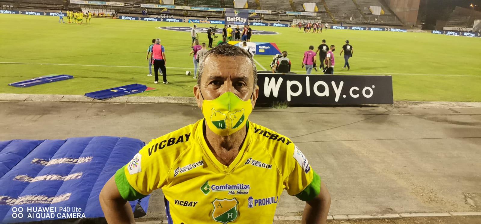 Albeiro Moreno Dimaté, por siempre hincha del Atlético Huila