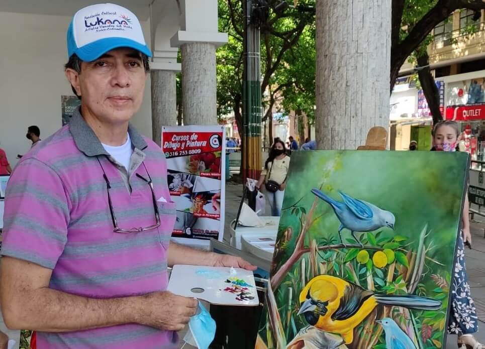 Guillermo Martín Moreno, pintor enamorado de los paisajes del Huila