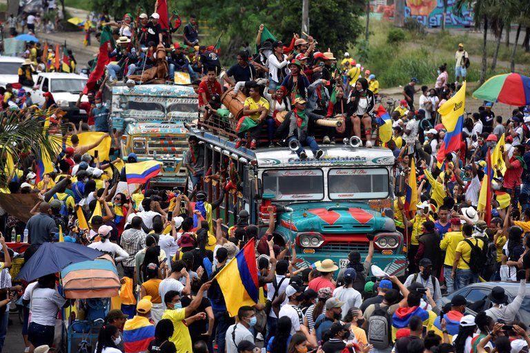 Minga ingresó a Cali pese a cierre de vías en el Valle del Cauca