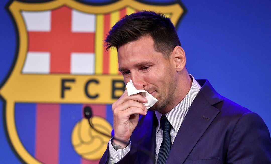 En medio de lágrimas, Messi se despidió del Barcelona