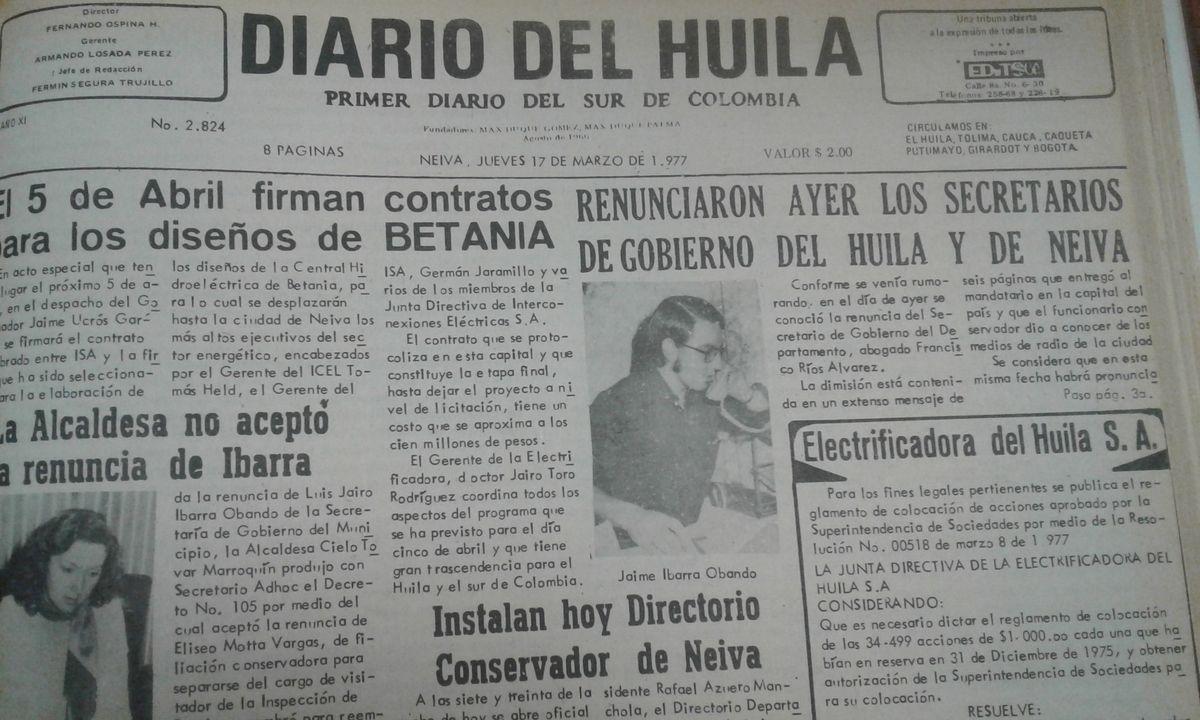 Diario del Huila: 55 años de historia
