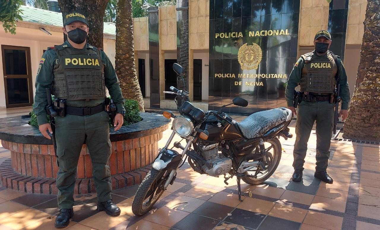 Una moto robada fue recuperada en Neiva